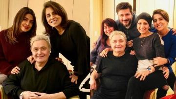 Priyanka Chopra and Sonali Bendre with Rishi Kapoor in NY.