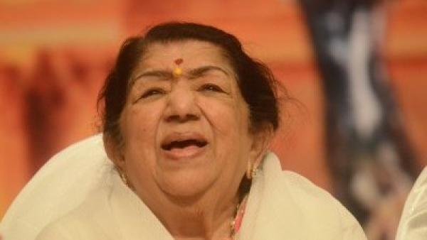Singer Lata Mangeshkar.