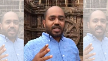 In a video uploaded on social media on Saturday, 15 September, Mitra was seen criticising the 13th century temple.