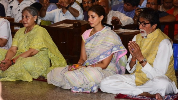 In Pics: Big B and Family Attend Durga Puja Festivities