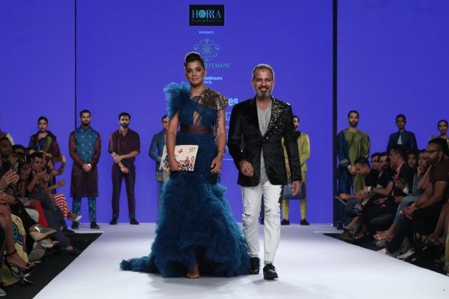 Mugdha Godse with designer Asif Merchant.