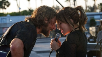 Bradley Cooper and Lady Gaga in <i>A Star Is Born</i>.
