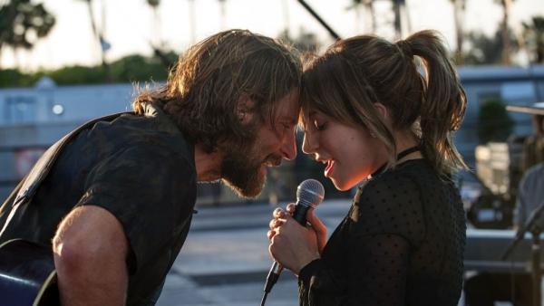 Bradley Cooper and Lady Gaga in <i>A Star Is Born</i>.