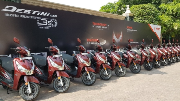 Hero Destini 125 launched. Prices range between Rs 54,650 and Rs 57,500.