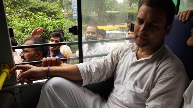 Rahul Gandhi detained along with other leaders outside CBI HQ