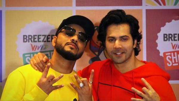 Raftaar and Varun Dhawan.