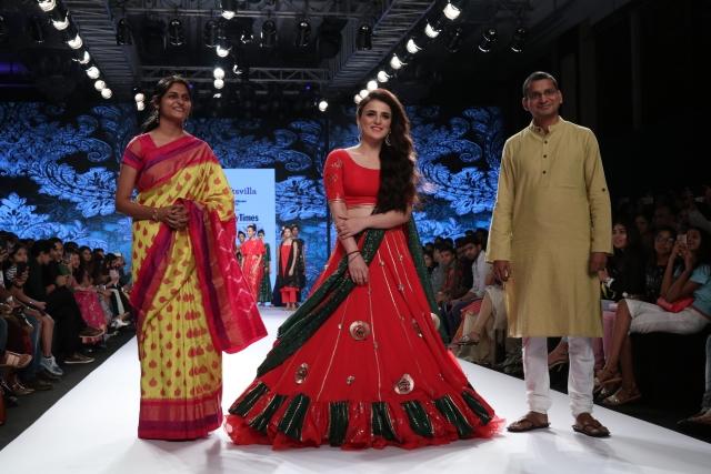 Radhika Madan walked the ramp for a clothing brand.