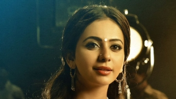 Rakul  Preet as Sridevi  in <i>NTR</i>.