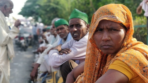 Thousands of farmers were stranded at the Delhi-UP border near Ghazipur.