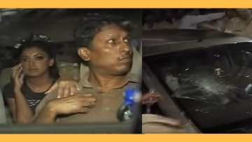 Screenshot of Tanushree Dutta in her car while she was attacked in 2008.