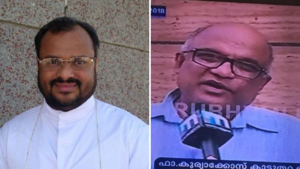 Father Kuriakose Kattuthara (R), one of the prime witnesses who had testified against rape accused Bishop Franco Mulakkal (L), was found dead on Monday, 22 October.
