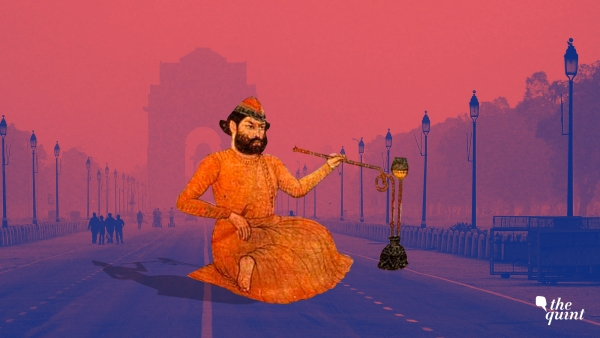 Image of leading 18th Century Urdu poet Mir Taqi Mir, against the backdrop of Delhi, used for representational purposes.