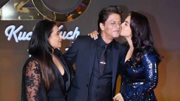 Rani Mukerji, Shah Rukh Khan and Kajol at the celebration of 20 years of <i>Kuch Kuch Hota Hai.</i>
