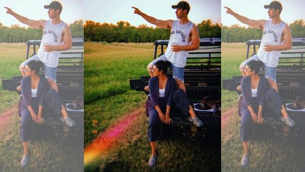 Nick Jonas with Priyanka Chopra.