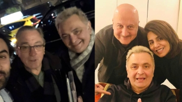 Rishi Kapoor meets Robert De Niro, Anupam Kher in New York.