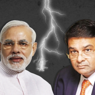Narendra Modi and Urjit Patel.