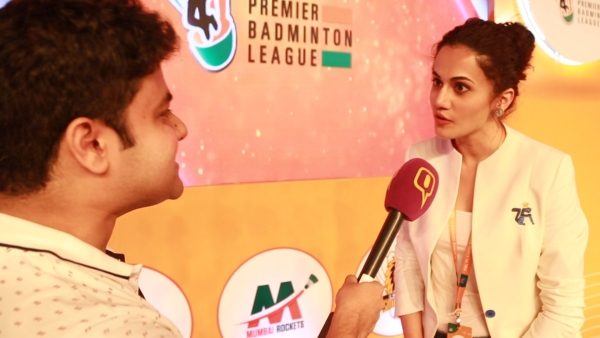 Taapsee Pannu speaks to <b>The Quint</b> at the Premier Badminton League auction.