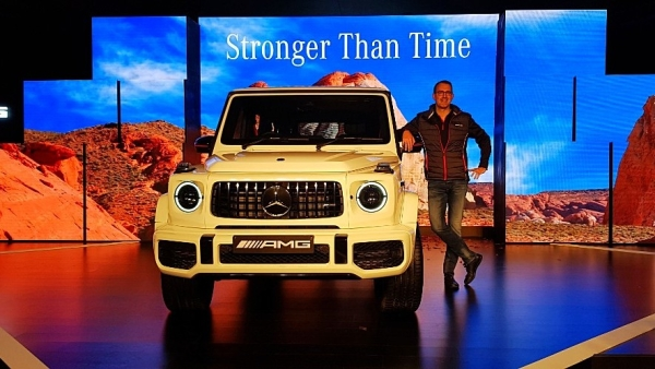 Michael Jopp, Vice-President, Sales & Marketing, Mercedes-Benz India at the launch of the 2018 Mercedes-AMG G63.