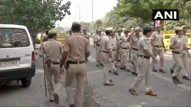 Security tightened and barricading outside CBI headquarters