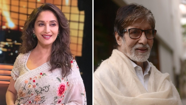 Madhuri Dixit-Nene and Amitabh Bachchan send wishes to fans and well-wishers.