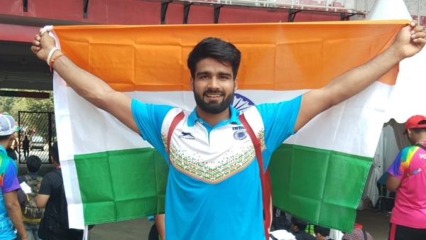 Sandeep won with a best throw of 60.01m in the Men's Javelin Throw F42-44/61-64 category.