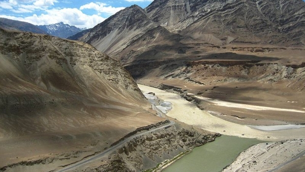 Zanskar-Indus river confluence. Image used for representation.