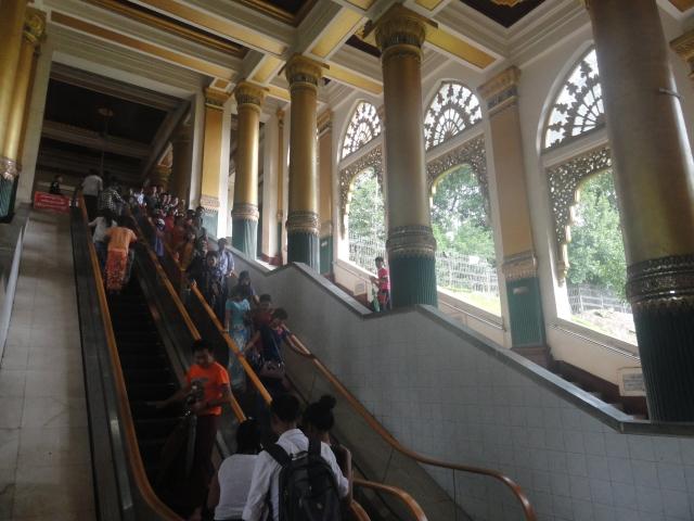 Western Gate at Shwedagon Pagoda.