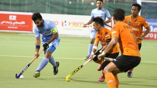Manpreet Singh in action.