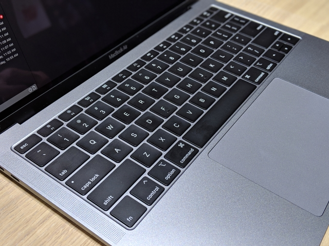 The third-generation keyboard on the MacBook Air.