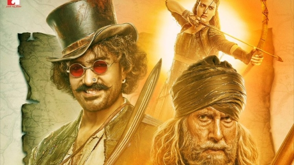 A poster of 'Thugs of Hindostan'.