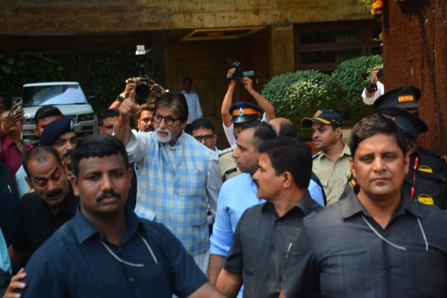 Big B at his residence.