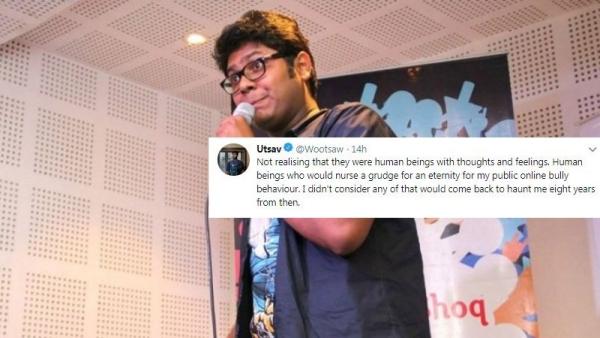 Netizens slam comedian Utsav Chakraborty.