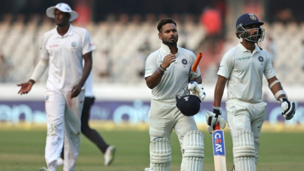 Pant, Rahane in  Control as India Trail WI by 3 Runs on Day 2