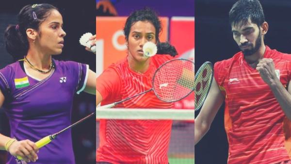 From left: Saina Nehwal, PV Sindhu & Kidambi Srikanth