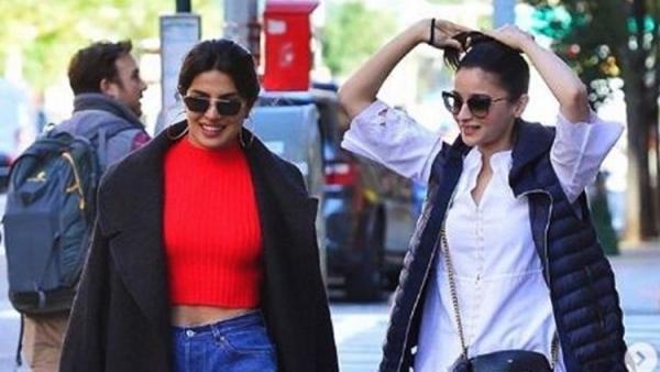 Priyanka Chopra spotted with Alia Bhatt in New York.