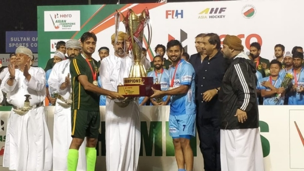 India and Pakistan were declared joint winners of the Asian Champions Trophy hockey tournament.