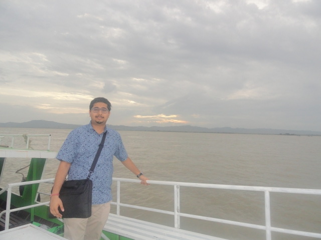 On the Irrawaddy River.