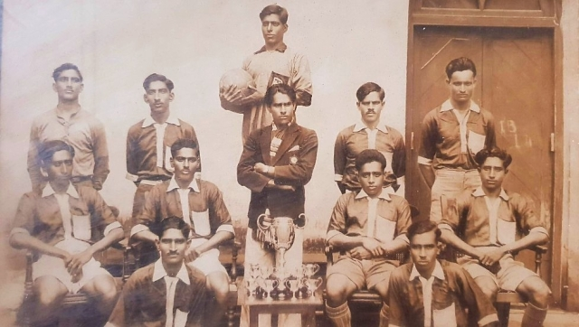 An undated photograph of the Bangalore Muslims team.