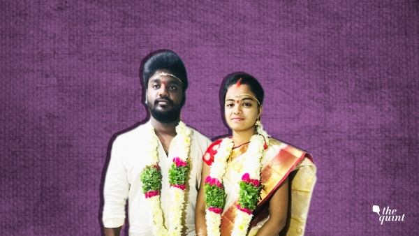Sandeep and Madhavi got married in a nearby temple in Hyderabad.
