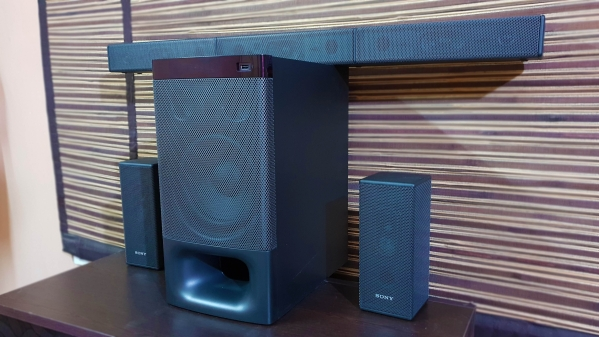 The Sony HT-S500RF 5.1 home theater.