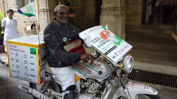 #GoodNews: 67-Yr-Old Organ Donor's 100-Day Bike Ride for Awareness