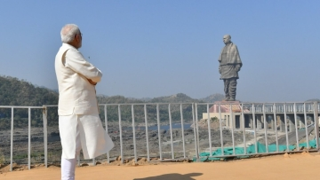 PM Modi on Wednesday, 31 October, unveiled Sardar Patel's 'Statue of Unity' on the bank of river Narmada in Gujarat's Kevadiya.