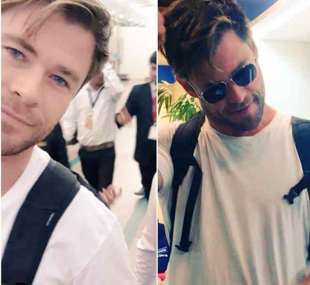 Fans share photos of Chris in Ahmedabad.