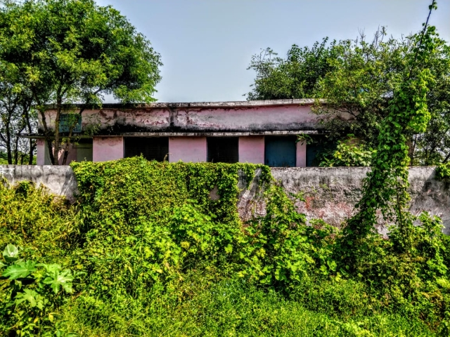 The hospital in Ranhera village which has never had a doctor walk in, according to locals.