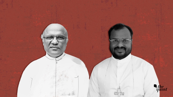 Father Kuriakose Kattuthara (L), one of the prime witnesses who had testified against rape accused Bishop Franco Mulakkal (R), was found dead in Jalandhar on Monday, 22 October.
