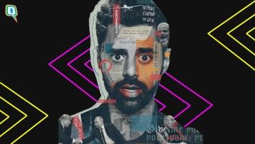 Hasan Minhaj in his Netflix show <i>Patriot act.</i>
