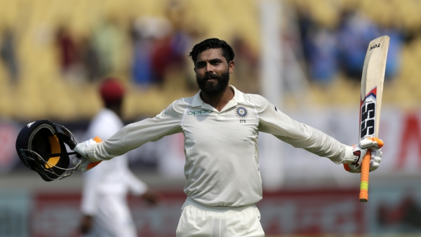 Ravindra Jadeja scored his first Test century against West Indies on Day 2.
