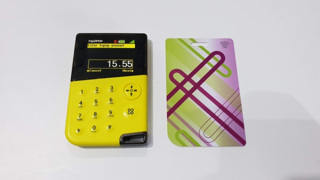 Smart cards that are compatible with portable terminals.