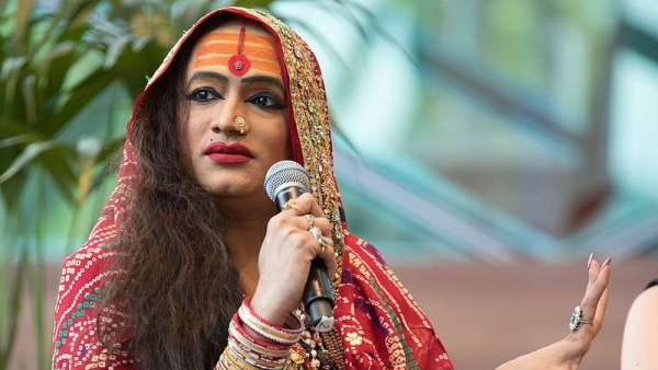 Laxmi Narayan Tripathi at JLF Melbourne on a panel 'Gender and the Spaces Between' presented by Melbourne Writers Festival, Federation Square, Melbourne 2017.