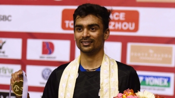 Sameer Verma pulled off a thrilling three-game victory over China's Lu Guangzu in the men's singles finals.
